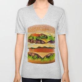 Cheeseburger YUM Unisex V-Neck