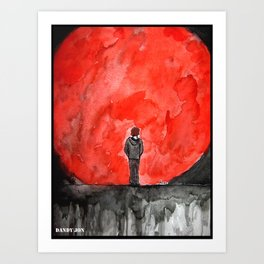 The Red Moon Art Print