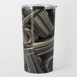 Metal Abstraction Travel Mug