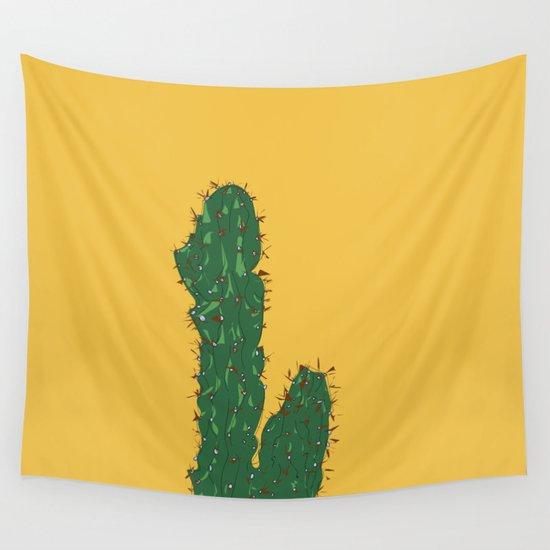 Mexico City (Ciudad de México), Mexico Cactus Travel Poster by carrielymandesigns