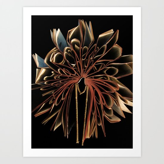 Book Flower Art Print