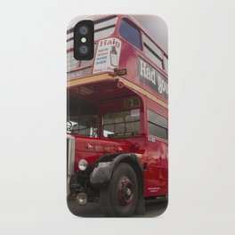 Old Red London Bus Vintage transport iPhone Case