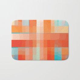 Orange Turquoise Summer Abstract Design Badematte