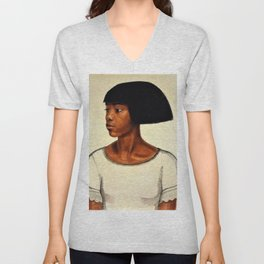 Classical African American Landscape ''Harlem Girl' by Winold Reiss Unisex V-Neck