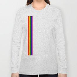 gay flag on white background Long Sleeve T-shirt
