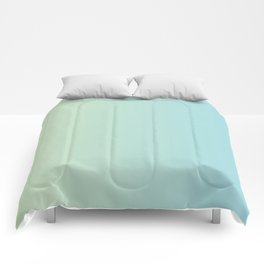 Turquoise Green Blue Gradient Comforters