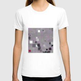 Purple Plum  Square Pattern T-shirt