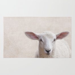 Lamb Portrait Rug
