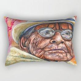 Woman in Glasses Rectangular Pillow