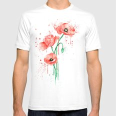 poppy MEDIUM Mens Fitted Tee White