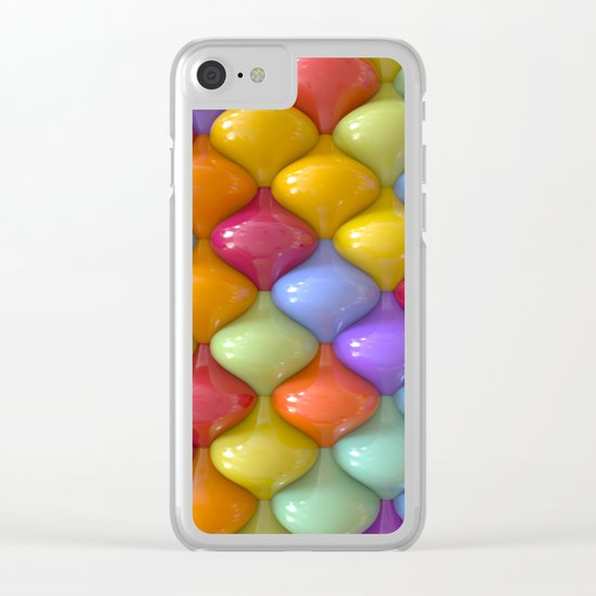 Oval Pattern Clear iPhone Case