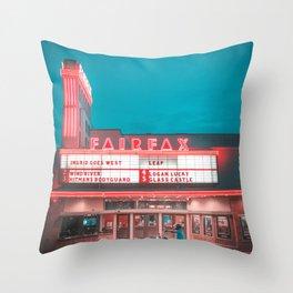 Fairfax red Throw Pillow