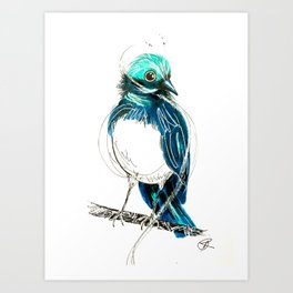 Wagtails 2. Art Print