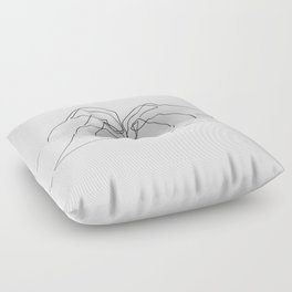 Hand Heart Floor Pillow