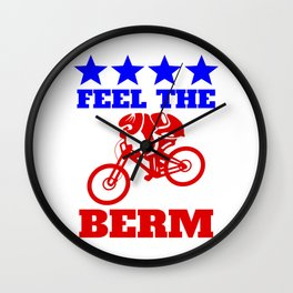 Bernie Sanders Mountain Bike Wall Clock
