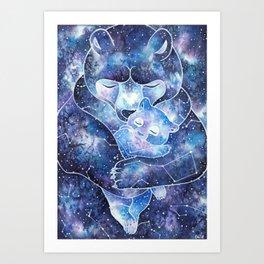 Ursa Major and Ursa Minor Art Print