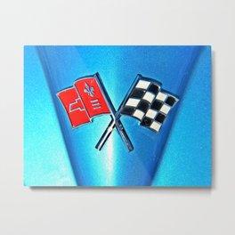 Corvette Flags Metal Print