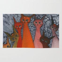 Casablanca Whimsical Cats Rug
