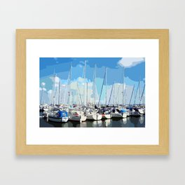 Harbor flair Framed Art Print
