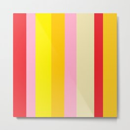 Bold Color - RED, YELLOW, AND PINK Metal Print