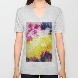 Watercolor effect digital art Unisex V-Neck