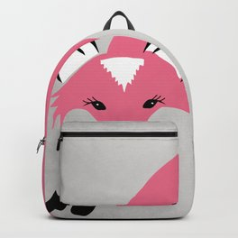 Foxier Roxy (Pink/Gray color option) Backpack