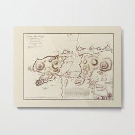 Map Of Fogo Island 1828 Metal Print