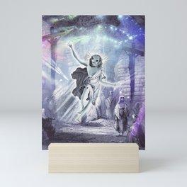 Alien Jesus Raves - Jerusalem Cross Raving Mini Art Print