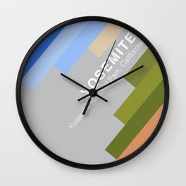 The colors of climbing spots - YOSEMITE Wall Clock