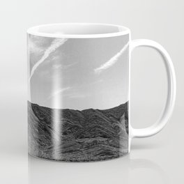 Desert Beauty | Remote Isolated Contrail Clouds Serene Calm Desolation Coffee Mug