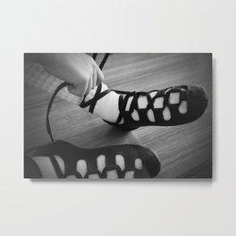 Little girl irish dancing soft shoes Metal Print