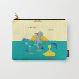 Stop use dolphins as weapons! Carry-All Pouch
