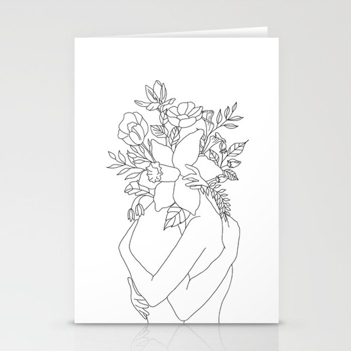 Blossom Hug Stationery Cards