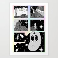 Sad, Soon to Be Space Man Art Print