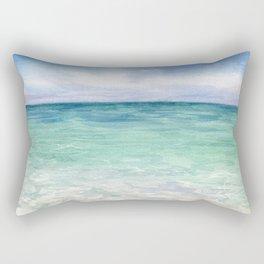 Watercolor Sea Landscape Rectangular Pillow