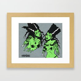 Zombie Women Framed Art Print