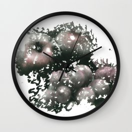 Apples & grapes Wall Clock