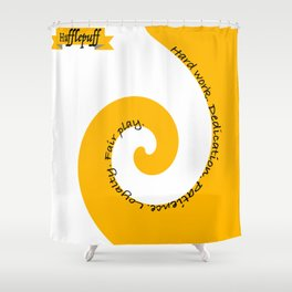 The Hufflepuff Shower Curtain