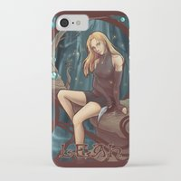 leah flores iPhone & iPod Cases featuring Leah by Tiphs
