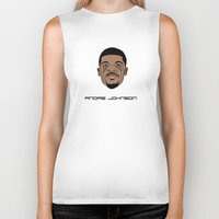 allyson johnson Biker Tanks featuring Andre Johnson by ΛDX7
