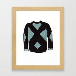 Season 2, Episode 10 (full sweater) Framed Art Print