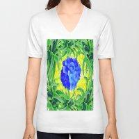 brasil V-neck T-shirts featuring Brasil Flag by Jess Batista
