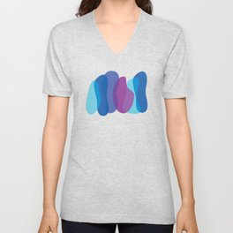 Abstract Colour Blend Unisex V-Neck