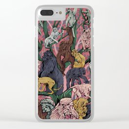 Utopia for Monkeys Clear iPhone Case