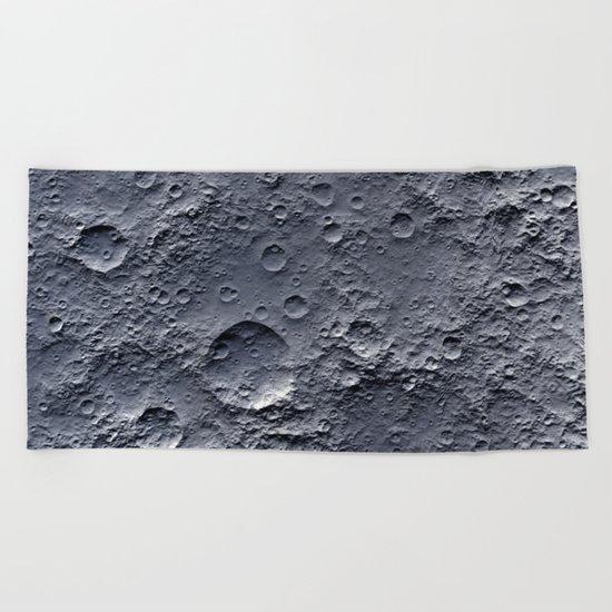 Moon Surface Beach Towel