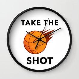 Take The Ball Shot Wall Clock
