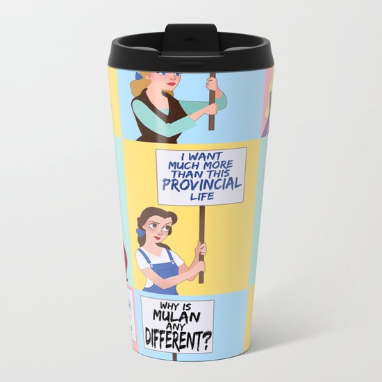 Protest Princesses Metal Travel Mug