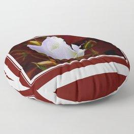 rose blanche Floor Pillow
