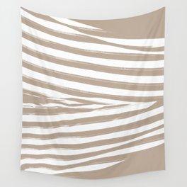 Beige Stripes Wall Tapestry
