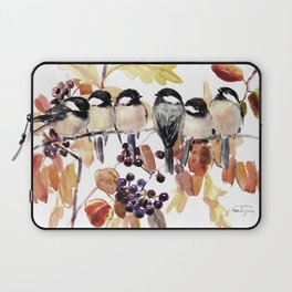 Chickadees in the Fall Laptop Sleeve